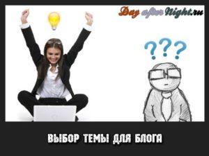 Выбор темы для сайта или блога